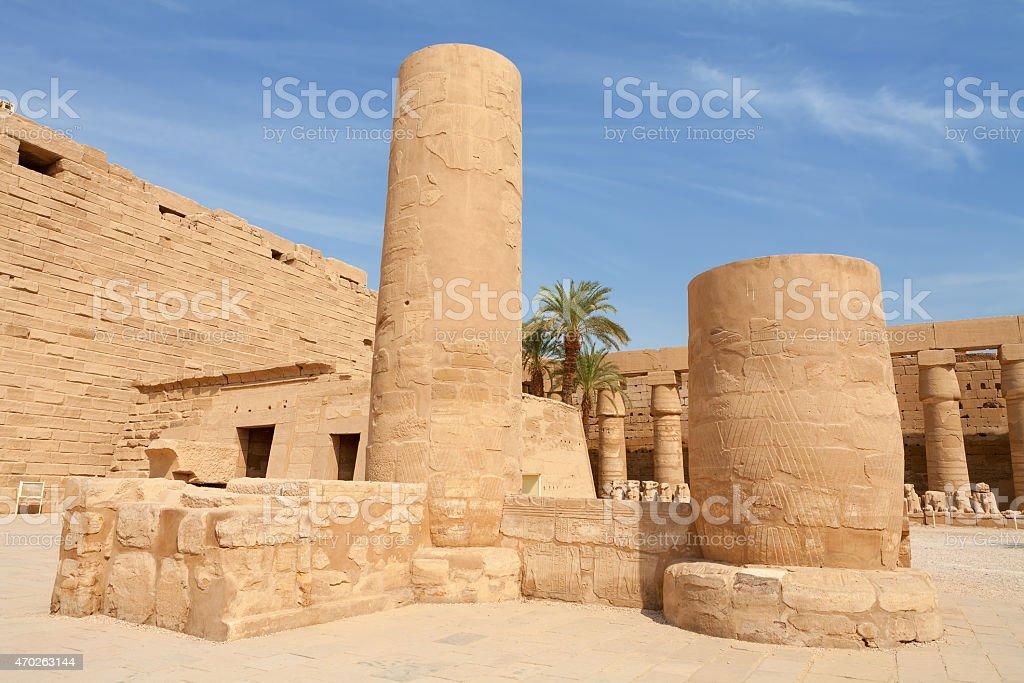 Temple of Karnak.  Luxor, Egypt stock photo
