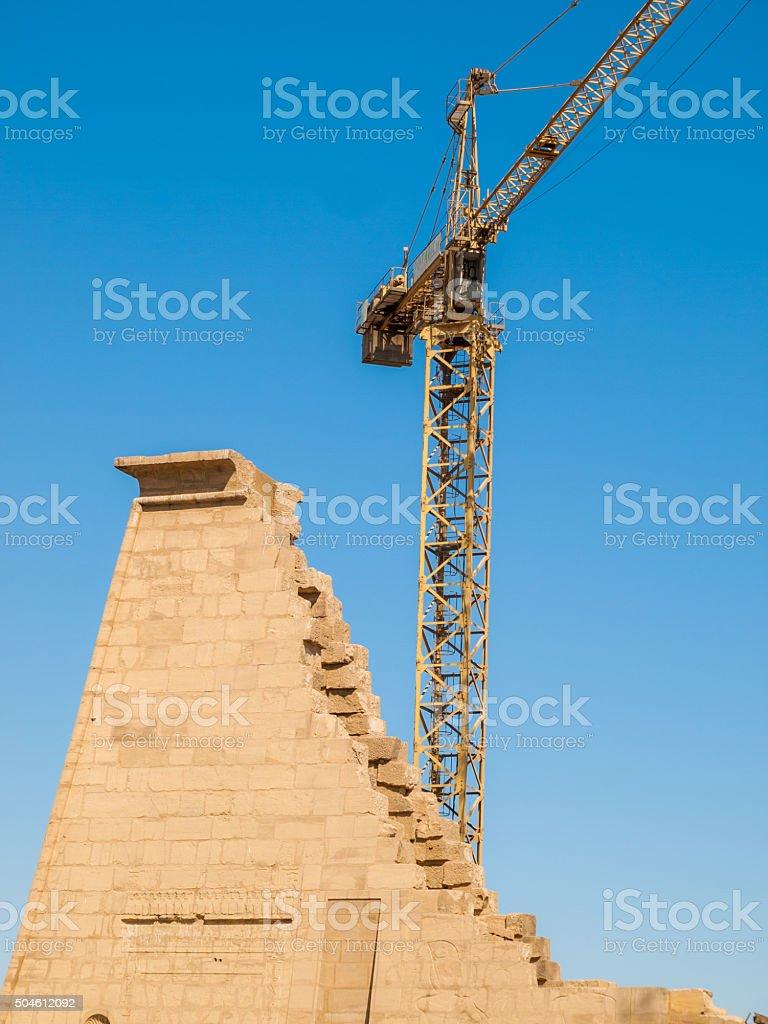 Temple of Karnak, Luxor, Egypt stock photo