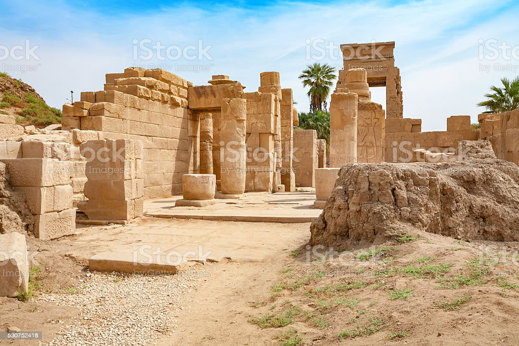 Temple of Karnak. Luxor, Egypt stock photo