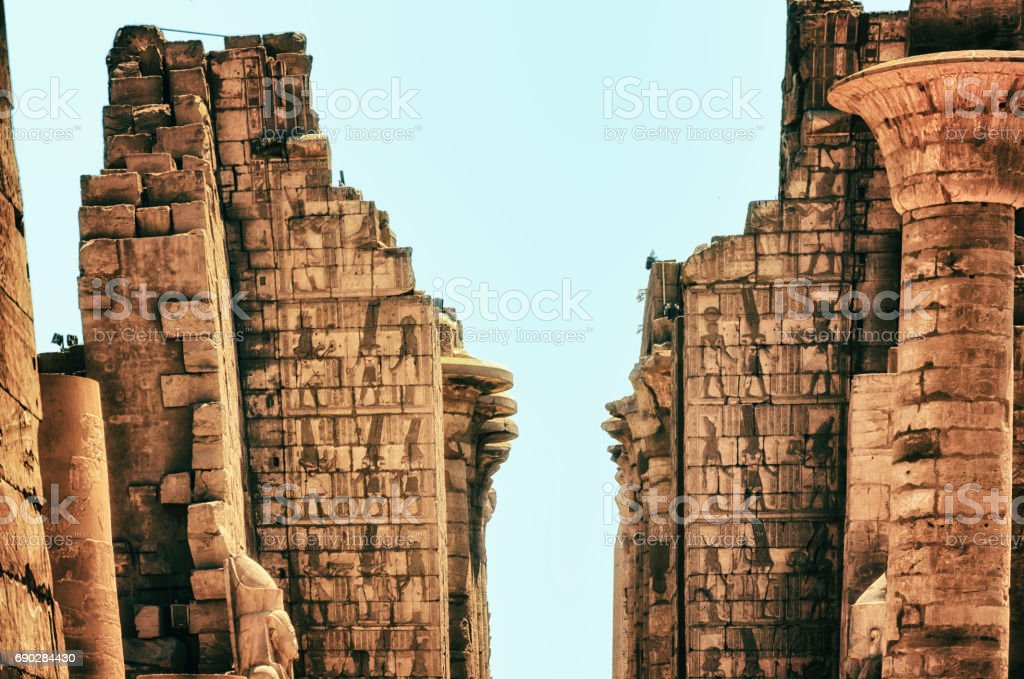 Temple of Karnak (ancient Thebes). Luxor, Egypt stock photo