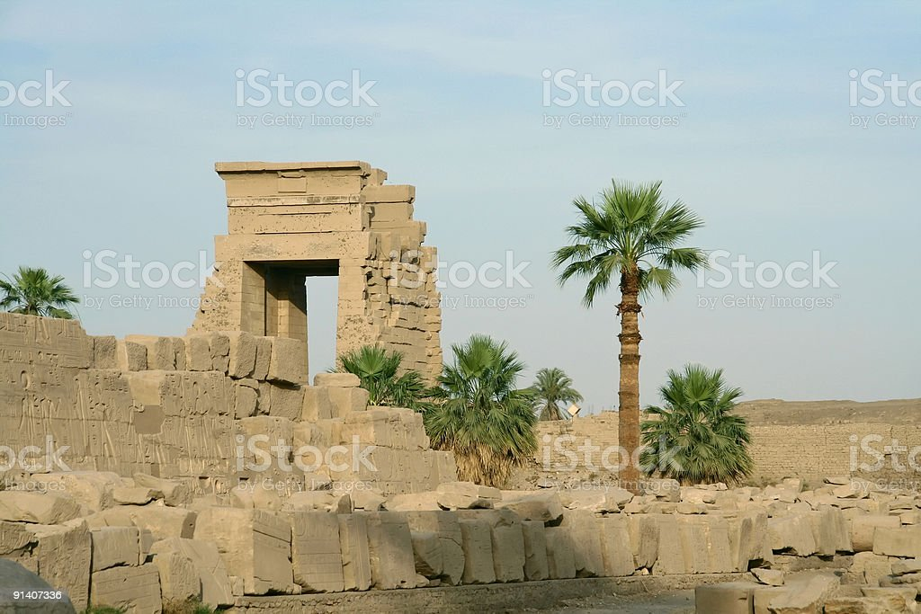 temple of karnak royalty-free stock photo