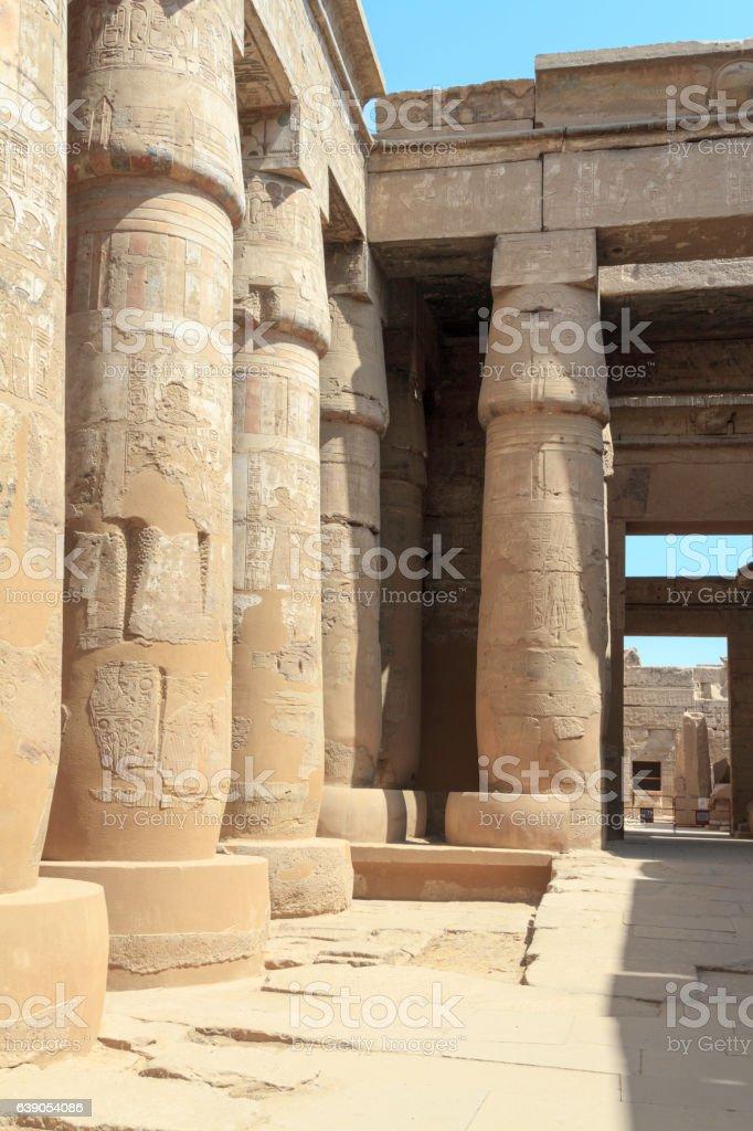 Temple of karnak. Upper Egypt stock photo