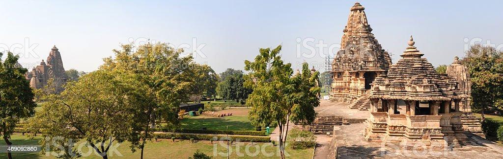 Temple of Khajuraho on India stock photo