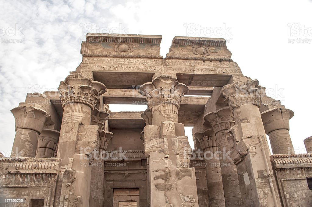 Temple of Kom Ombo in Egypt stock photo