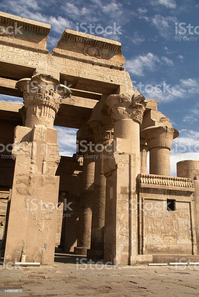 Temple of Kom Ombo royalty-free stock photo