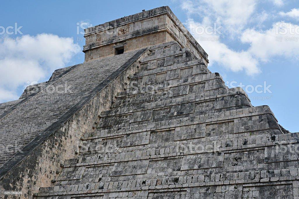 Temple of Kukulkan, pyramid in Chichen Itza, Yucatan, Mexico. stock photo