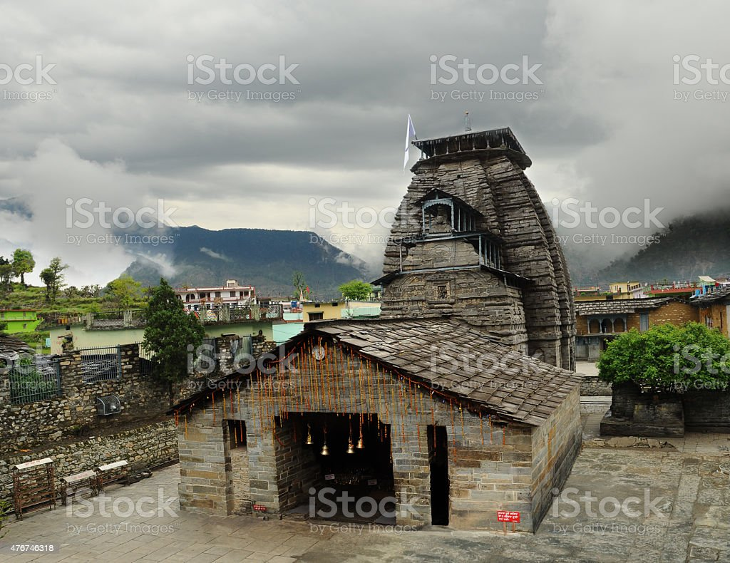 Temple of Lord Shiva in the Gopeshwar stock photo