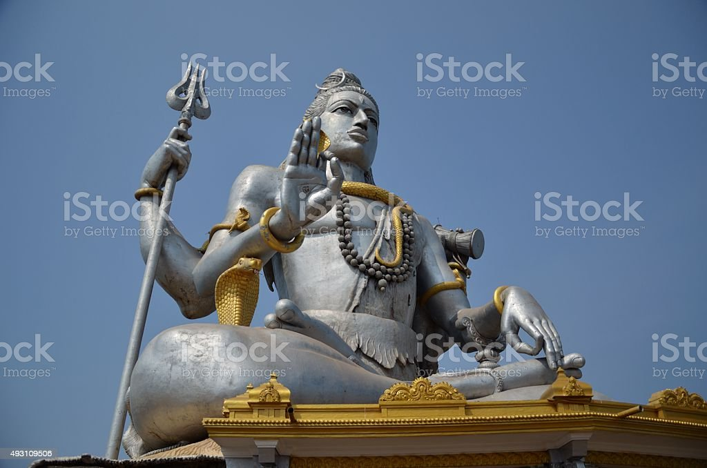 Temple of Lord Shiva, Karnataka, India stock photo