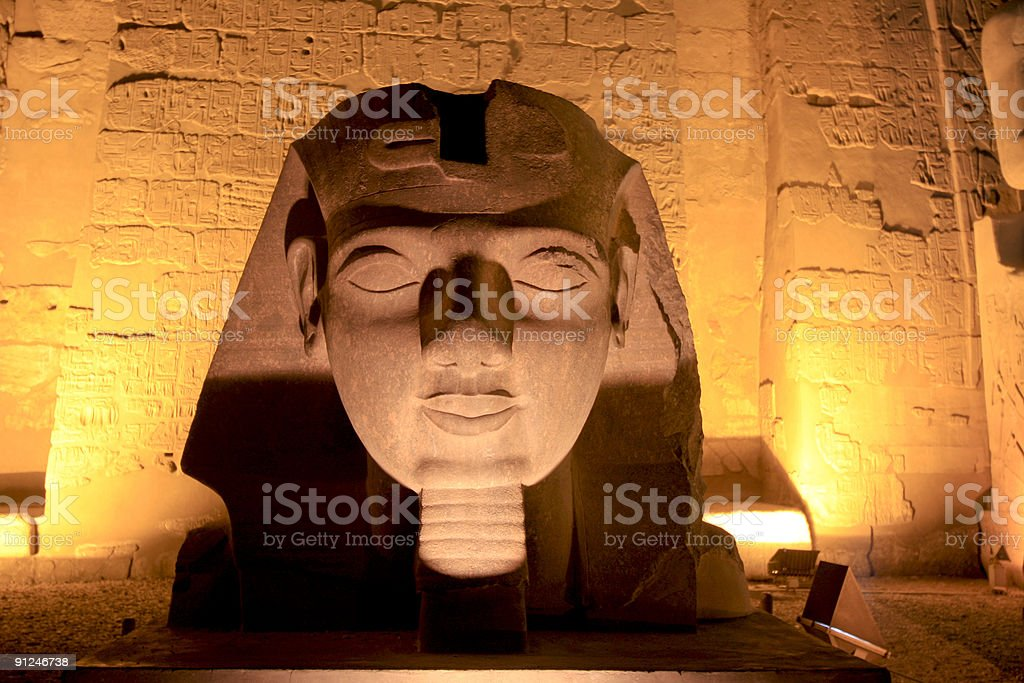 Temple of Luxor in Thebes, Egypt royalty-free stock photo