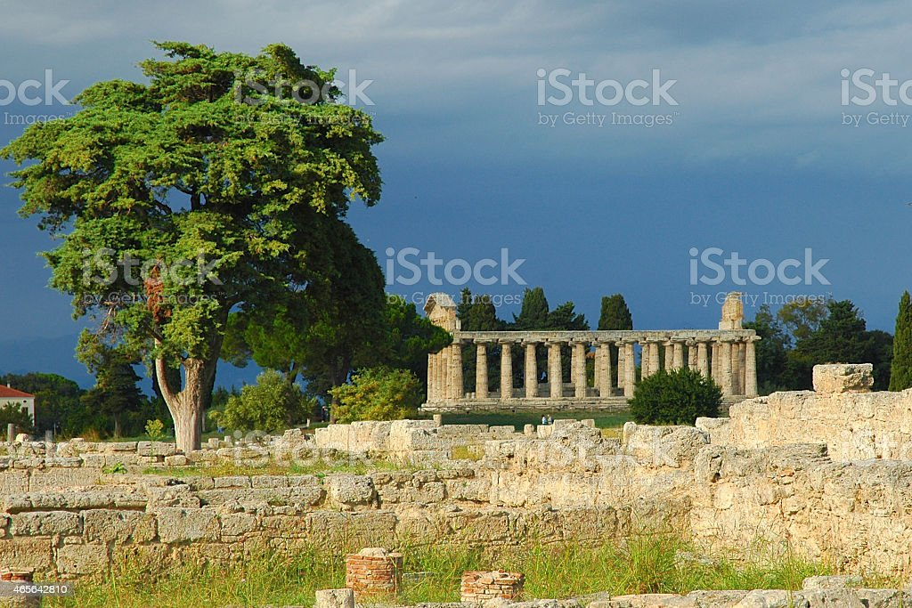 Temple of Nepture, Paestum, Italy stock photo