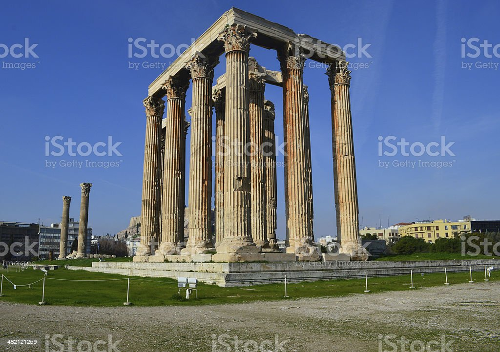 temple of olympian jupiter, Athens, Greece stock photo