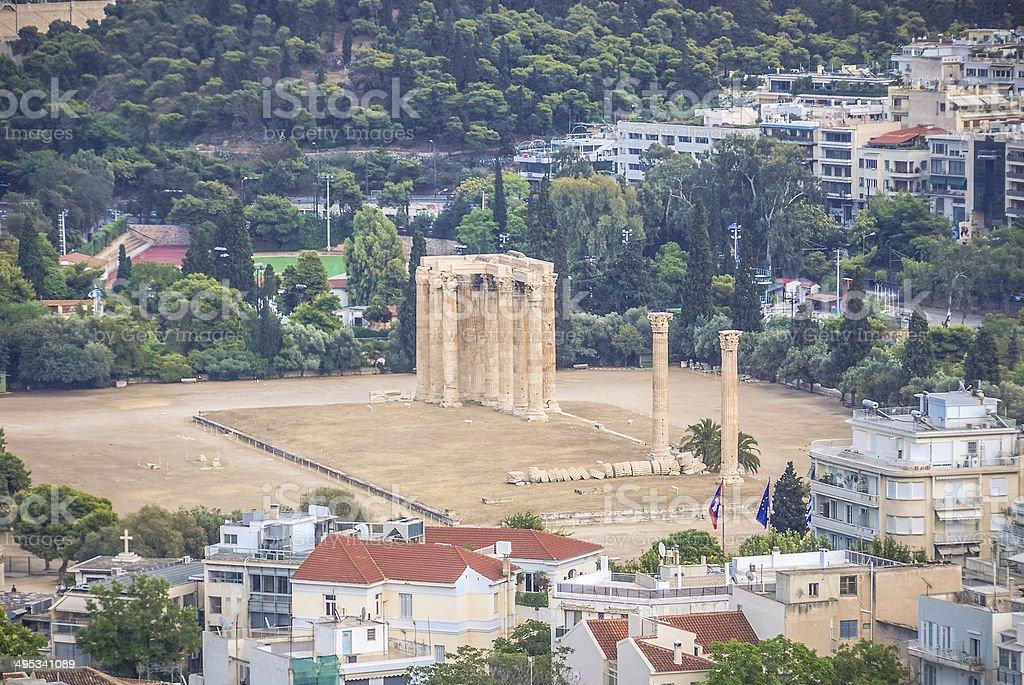 Temple of Olympian Zeus - Athens, Greece stock photo