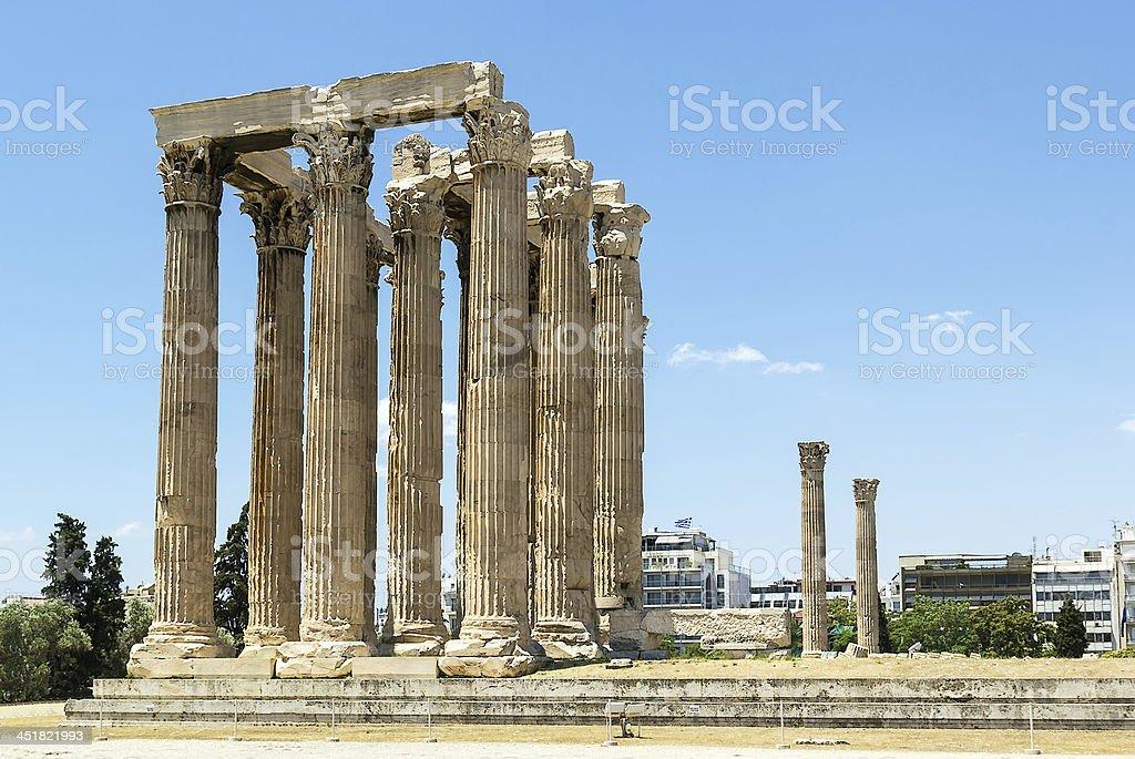 Temple of Olympian Zeus, Athens royalty-free stock photo