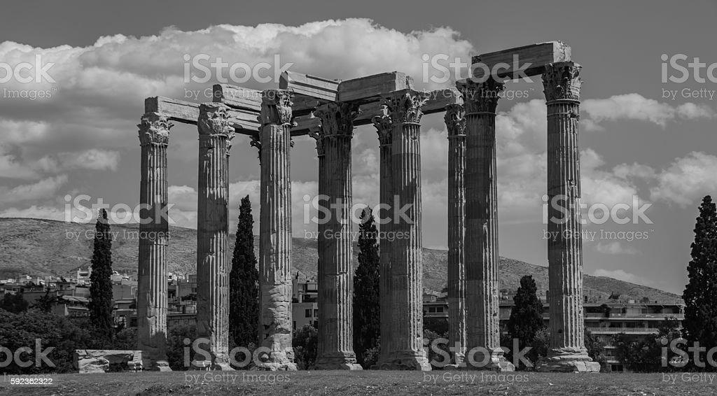 Temple of Olympian Zeus II stock photo