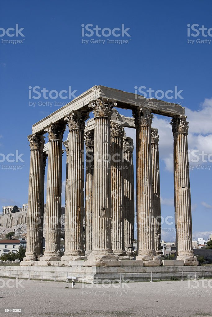 Temple of Olympian Zeus Remains royalty-free stock photo