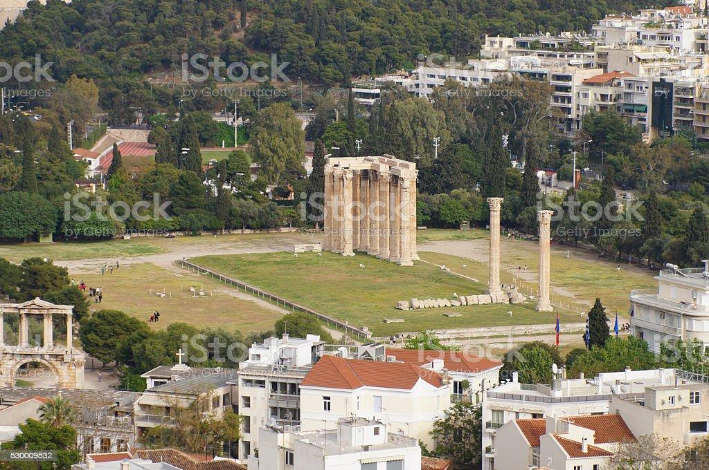 Temple of Olympian Zeus,Athens. Greece stock photo