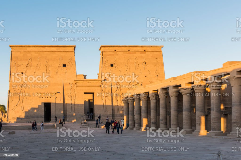 Temple of Philae, Aswan, Egypt. stock photo