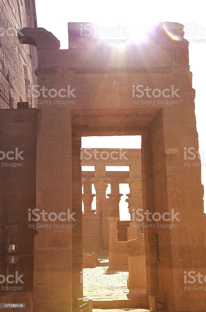 Temple of Philae stock photo