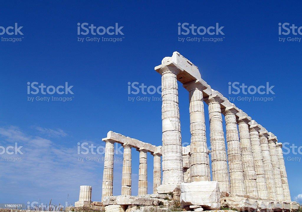 Temple of Poseidon at Cape Sounion near Athens royalty-free stock photo