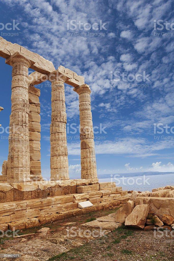 Temple of Poseidon near Athens, Greece stock photo