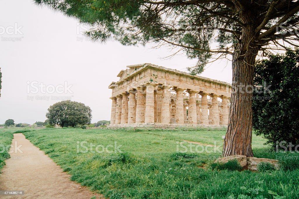 Temple of Poseidon, Paestum, Italy stock photo