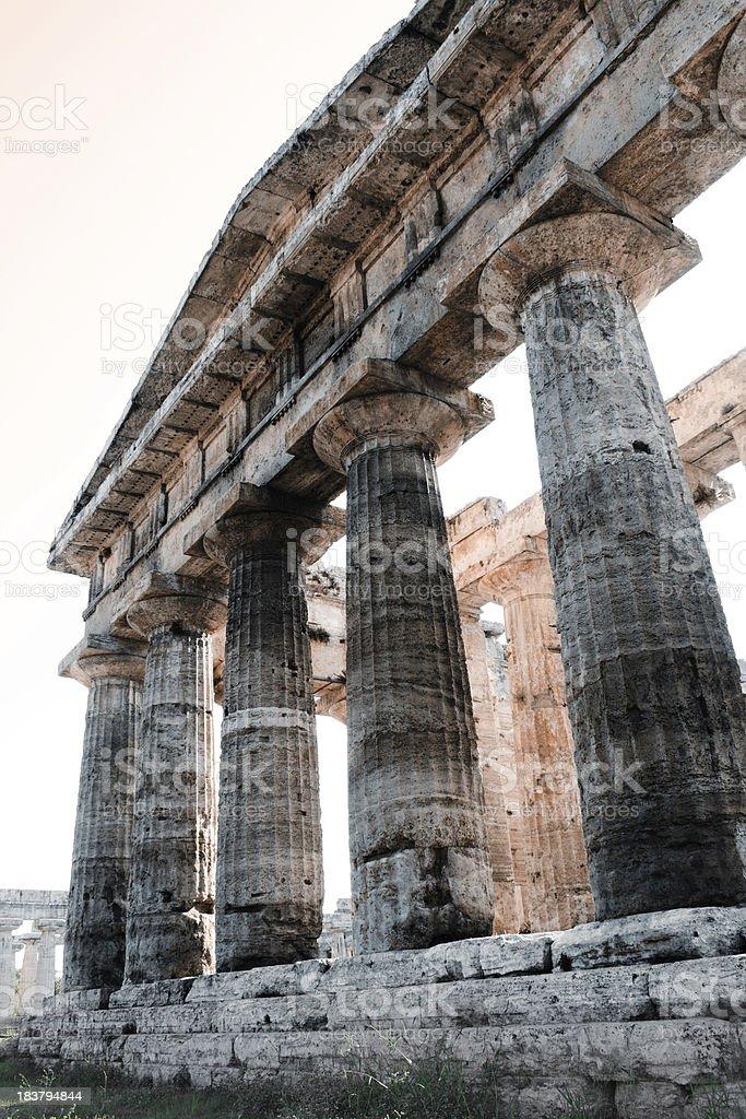 Temple of Poseidon, Paestum stock photo