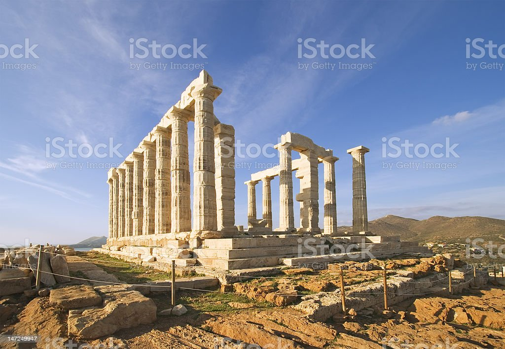 Temple of Poseidon royalty-free stock photo