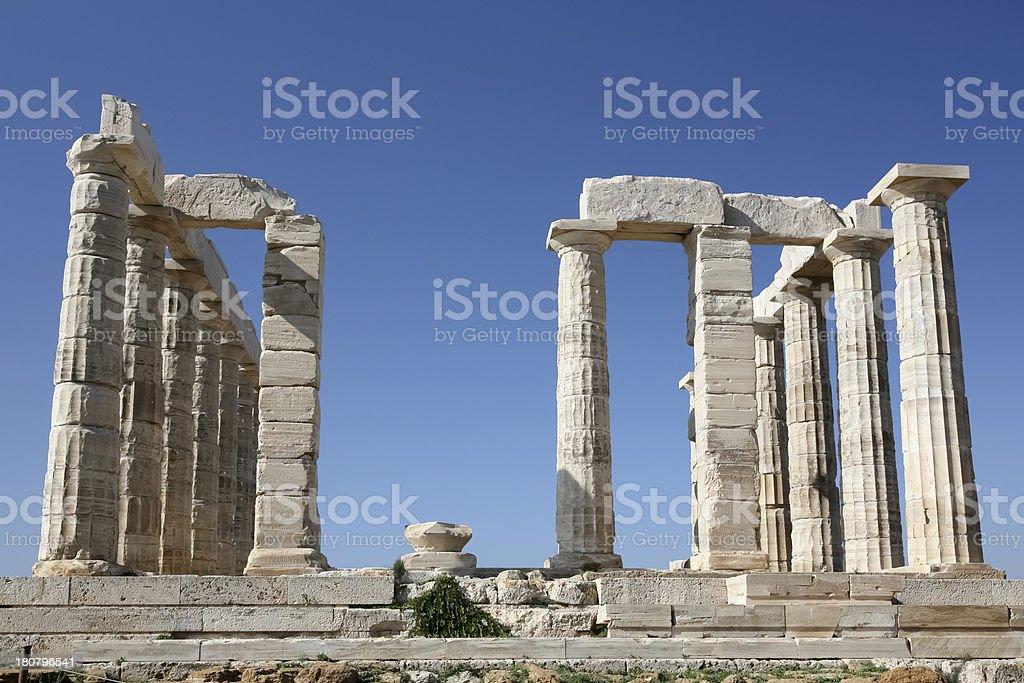 Temple of Poseidon, Sounion, Greece royalty-free stock photo