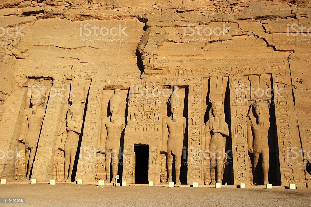 Temple of Queen Nefertari in Abu Simbel, Egypt royalty-free stock photo