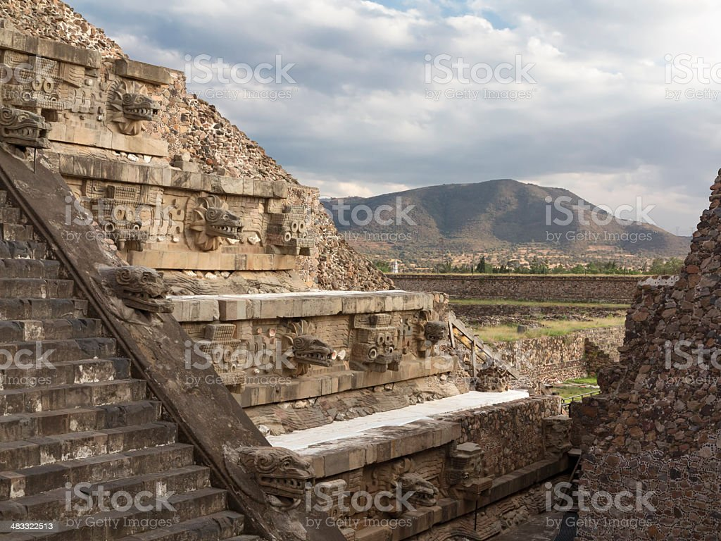 Temple of Quetzalcoatl royalty-free stock photo