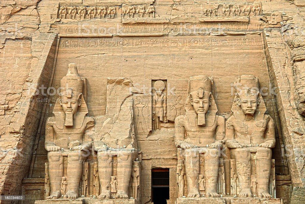 Temple of Rameses II stock photo