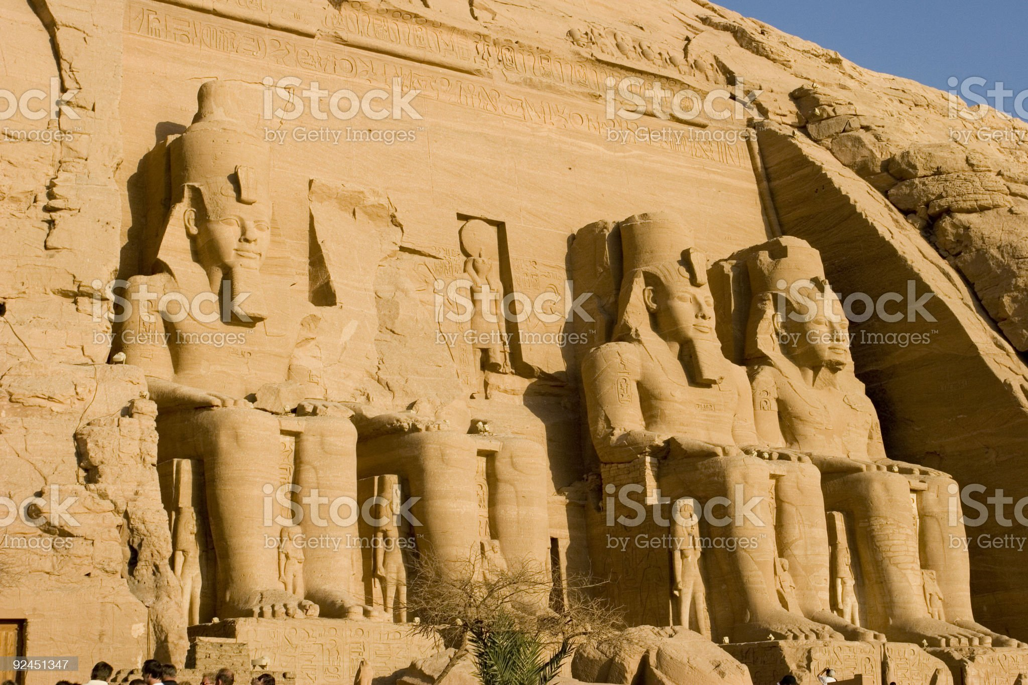 Temple of Ramses II royalty-free stock photo