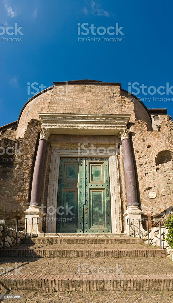 Temple of Romulus, Forum, Rome royalty-free stock photo