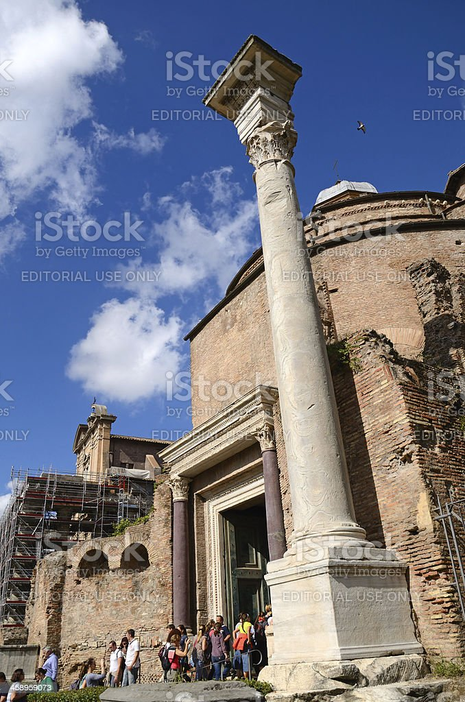 Temple of Romulus stock photo