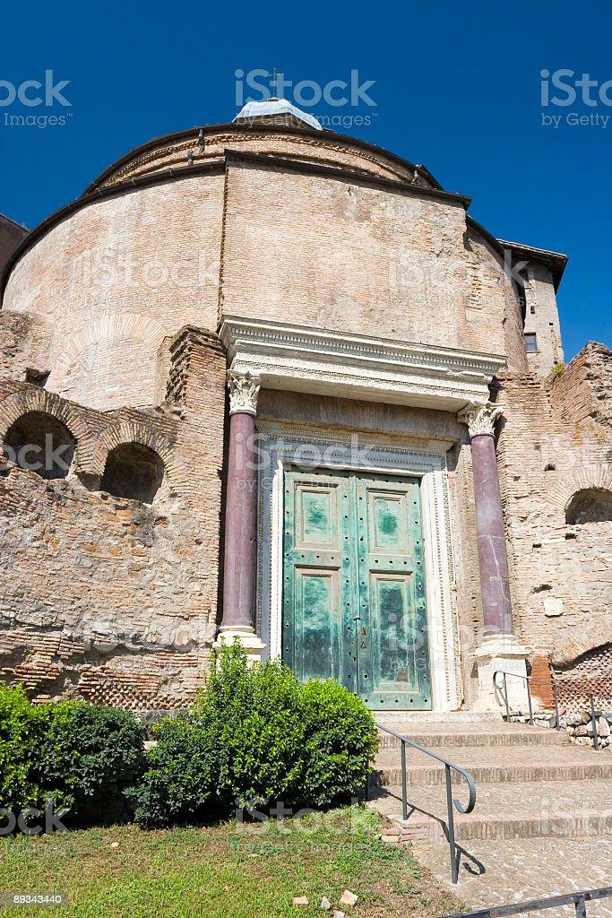 Temple of Romulus stock photo