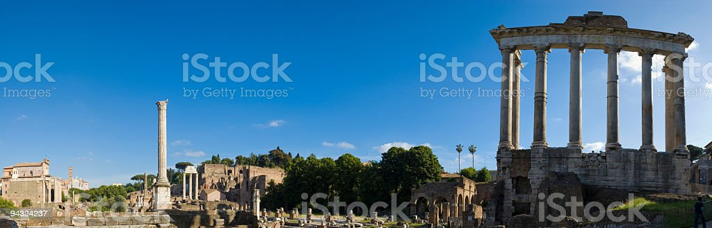 Temple of Saturn, Forum, Rome stock photo