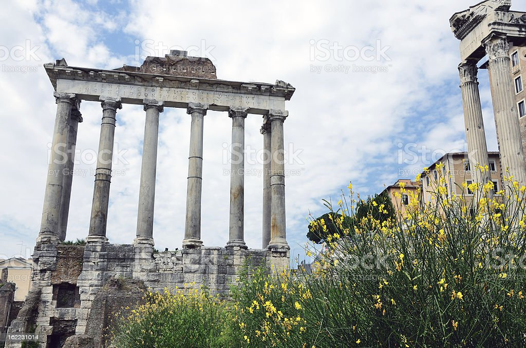Temple of Saturn, Rome stock photo