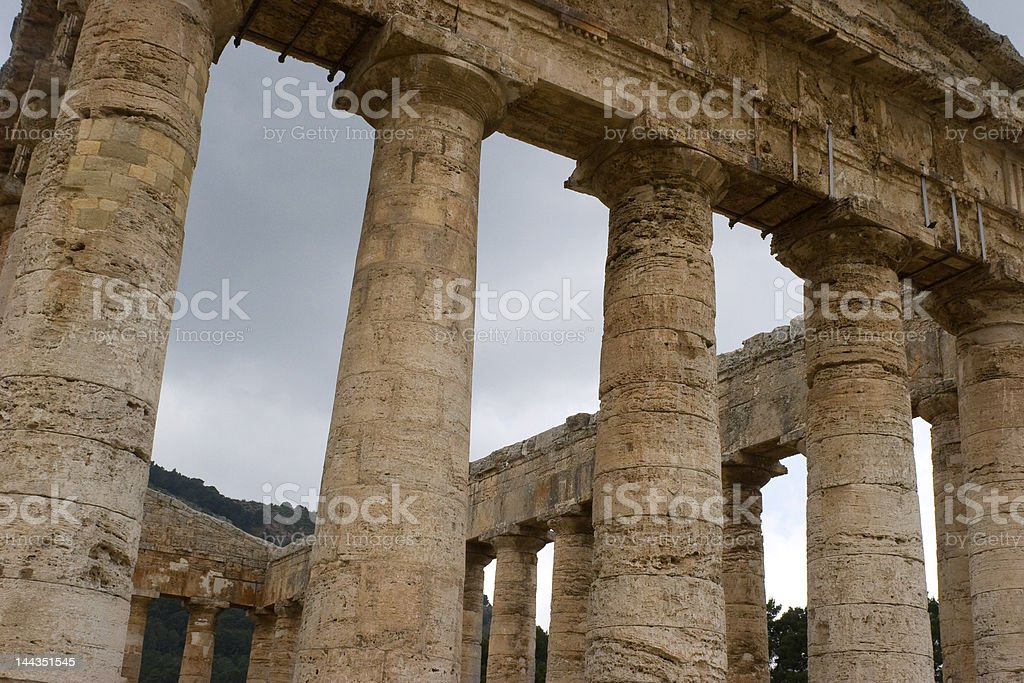 Temple of Segesta, Sicily. royalty-free stock photo