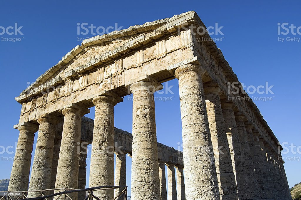 Temple of Segesta, wonderful Sicily royalty-free stock photo