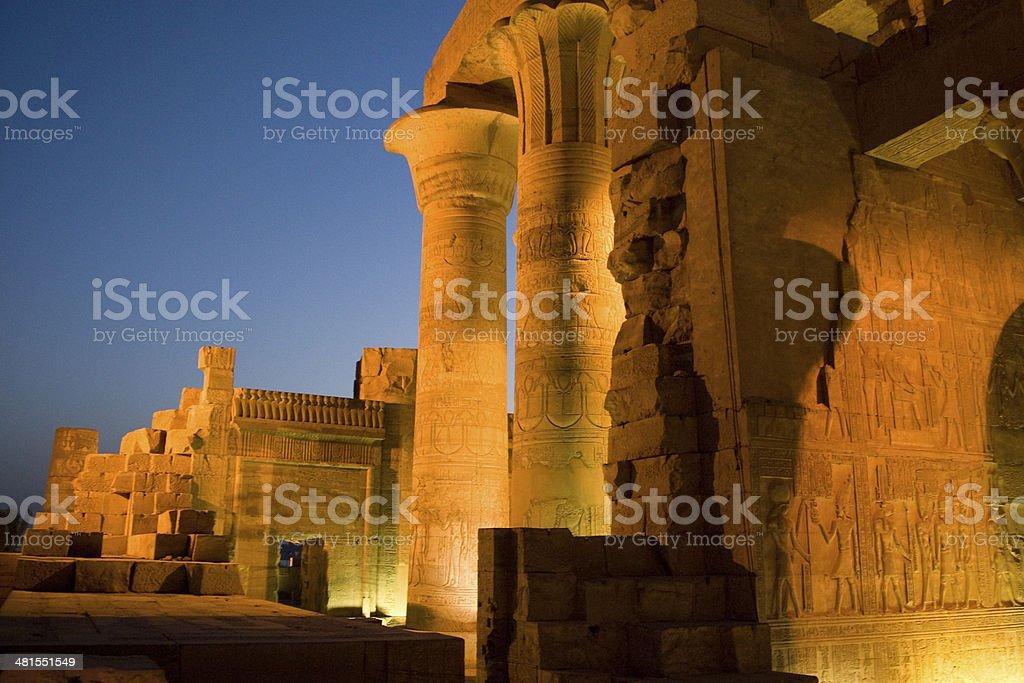 Temple of Sobek in Kom Ombo, Egypt stock photo