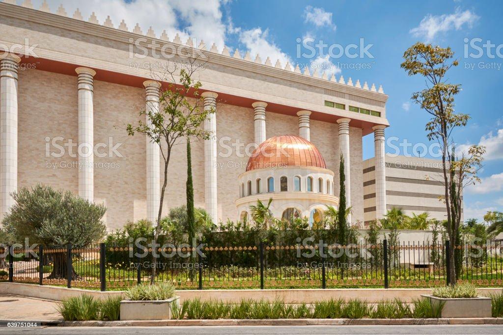 Temple of Solomon in Sao Paulo city. stock photo