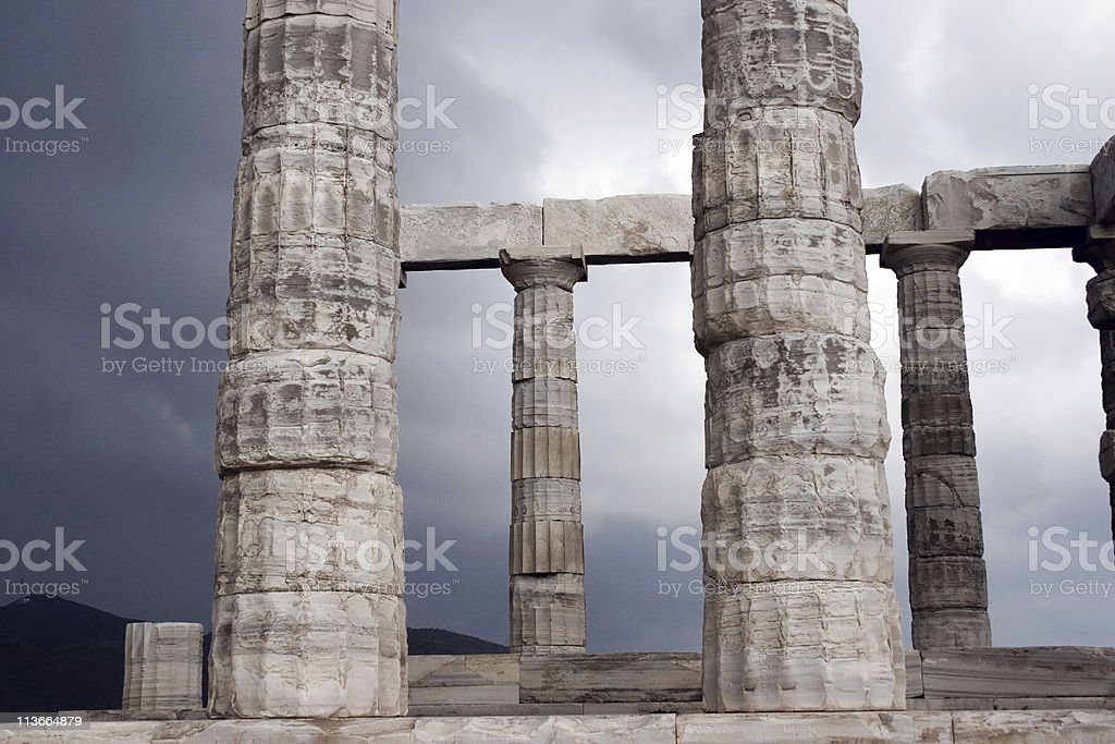 Temple of Sounion, Greece royalty-free stock photo