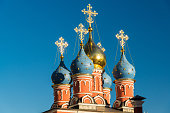 Temple of St. George the Victorious on Pskovskaya Hill. Russia