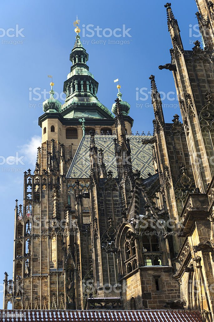Temple of St. Vitus in Prague 1 royalty-free stock photo