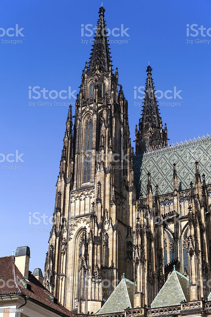 Temple of St. Vitus in Prague royalty-free stock photo