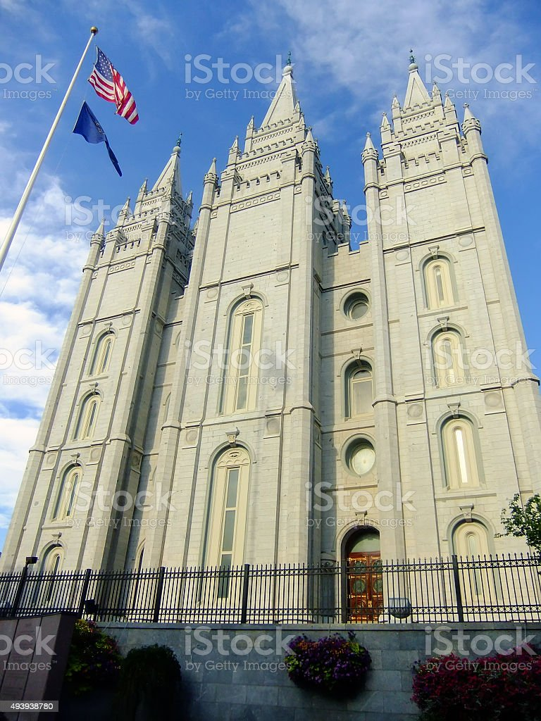 Temple of The Church of Jesus Christ of Latter-day Saints stock photo