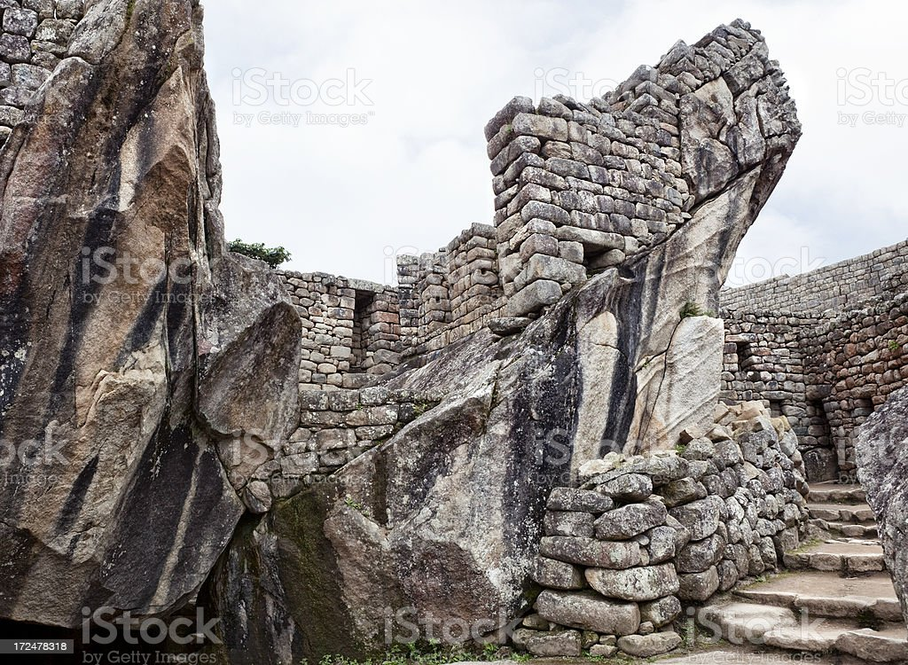 Temple of the Condor - Machu Picchu stock photo