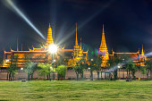 Temple of the Emerald Buddha.(Wat Phra Kaew.) Bangkok, Thailand.