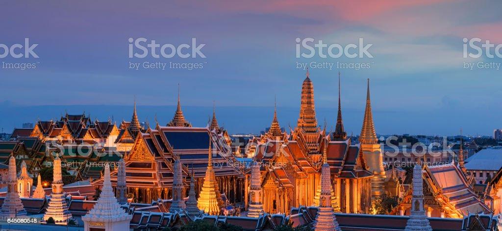 Temple of the Emerald Buddha (Wat Phra Kaew), Bangkok, Thailand stock photo