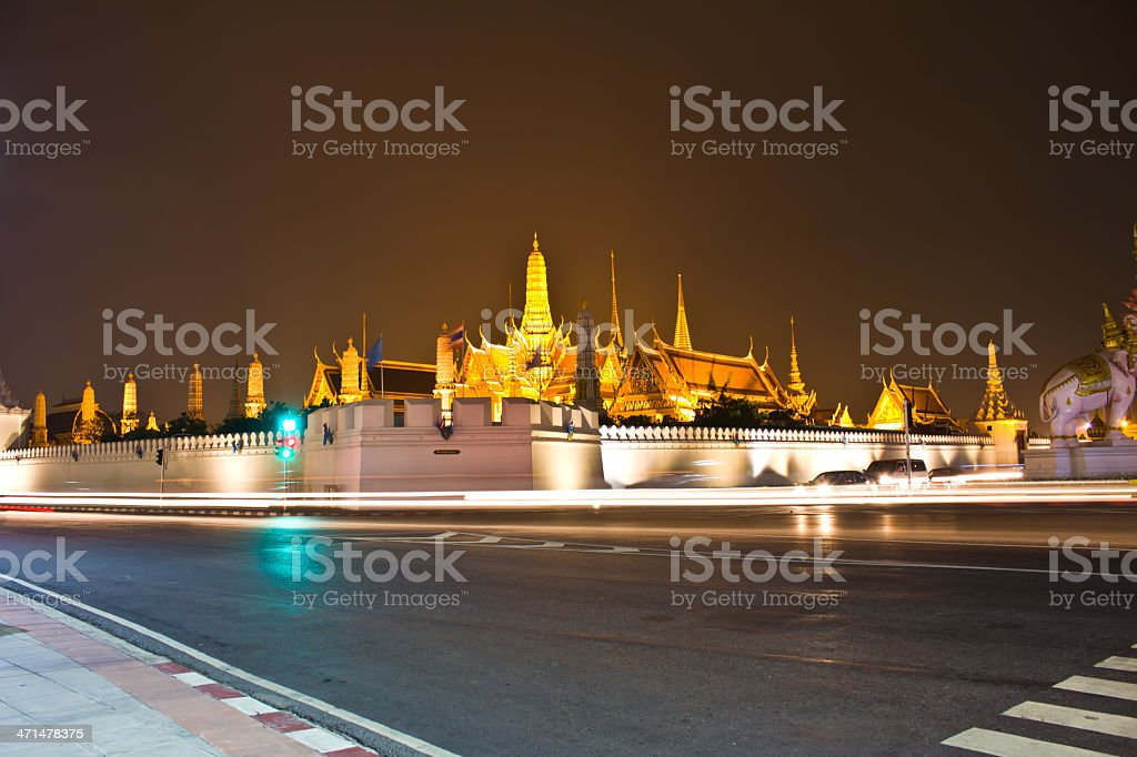 Temple of the Emerald Buddha royalty-free stock photo